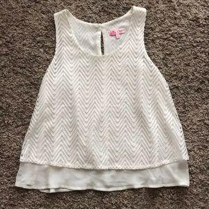 White candies sleeveless blouse